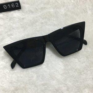 Black Frame Sunnies Cat Eyes Lens Sunglasses
